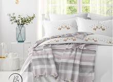 طقم سرير 5 قطع قطن  100 ٪ صناعة تركية  Bed&Pajamas