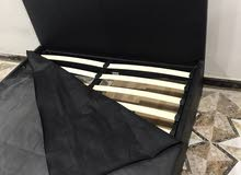 سرير اوربي لون اسود للبيع قياسات 150x200 (جديد)