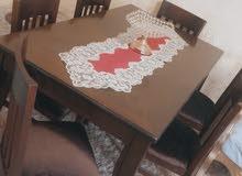 طاولة سفرة فخمة تفصيل ب700 دينار خشب زان جديدة قابل للتفاوض