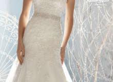 فستان عروس ابيض جديد للبيع