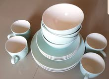 crockery and champagne  glasses homecentre