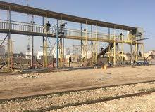 تعلن شركه المقداد البناء الهياكل الحديد تم إنجاز مجسر مستودع