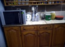 مطبخ خشب 160 سم بالرخامة