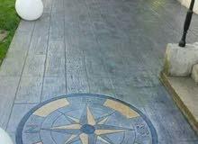 خرسانه مطبوعه / Stamp Concrete