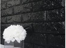 PE Foam 33D wall stickers Brick pattern self Adhesive - Black يوجد ألوان وأشكال مختلفة