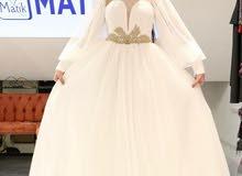 فستان عروس 60 دينار جديد تركي