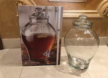 اناء زجاج للعصير والماء