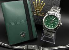 طقم رولكس ساعة ماستر مع محفظة واسوارة من رولكس
