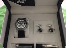 Mont Blanc gift box (watch+pen+cufflinks)
