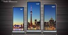 شاشة عرض سنما ومسرح منزلى وللشركة عملاقة بحجم 105 بوصة و 85 بوصة