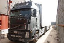 7شاحنات فولفو راس تريله مع مقطورة تبريد بحالة جيده جدا