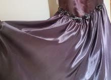 فستان سهرة موف غامق طويل