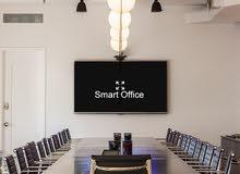 مكتب ذكي 124متر واجهة امامية مطل علي شارع دوحة الادب للبيع
