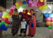 شخصيات كرتونيه ومهرجين حفلات الاطفال