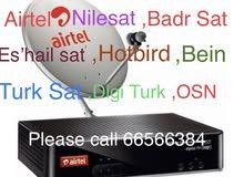 Airtel hd receiver brand new & installation service