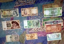 عملات ورقية لبنانية وعربية قديمة
