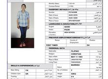 Filipino  housemaid new and experience