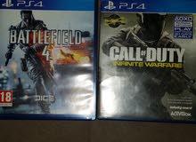 للبيع COD infinite warfare و Battlefield 4