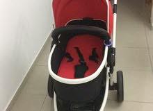 عربة اطفال مستعمله مع كرسي سيارة من جيجلز