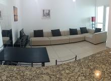 دبي مارينا غرفة وصالة مفروشة سوبر لوكس مع بلكونة واطلالة مفتوحة - ايجار شهري شامل