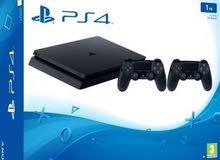 مطلوب بلاي ستيشن PS4 نظيفة مع تيرا هارد ديسك