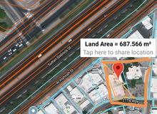 شارع العام مساحة أرض كبيرة في مدينة السلطان قابوس