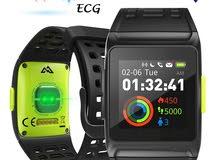 ساعة رياضية  للياقة البدنية،17 نوع رياضة،نظام تحديد المواقع،منبه مكالمات،قراءة نبض القلب،ECG+HRV,GPS