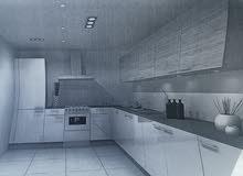 للبيع مطبخ تفصيل بحسب الطلب ( الصور توضح نموذج المطبخ )