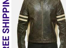 Royal Enfield Leather Jacket, Genuine Leather. سترة جلدية رويال انفيلد ، جلد طبي