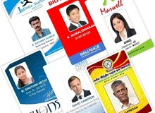 Direct printing on ID plastic cards company employees ID