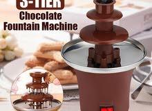 نافورة الشوكولا الكهربائية لعشاق الشوكولا 3  طبقات