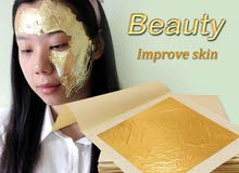 10Piece gold leaf 24K Carat Spa Facial Mask Gold.