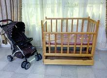 السرير تاع الاطفال+عربة الاطفال في ولاية باتنة