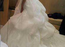 فستان زفاف تركي ملبوس مره واحده موديل سنه