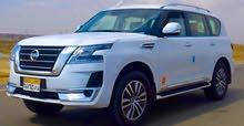 نيسان باترول بلاتينيوم 2021 للايجار بالسائق وبدون للأجانب والأخوة العرب /