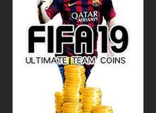 للبيع لعبة فيفا 19 مع تشكيلة التميت تيم بقيمة مليون  الحساب يتواجد فيه لعبة