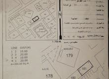للبيع ارض سكنيً تجاري صحار مويلح المربع 1 مفتوحه من 3 جهات عرضيه
