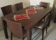 غرفة نوم كاملة +طاولة طعام +بوفيت