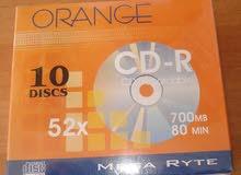 سى - دى   اورانج . بالغلاف الرقيق  ORANGE- CD -R 700 MB  80 MIN