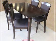 طاولة مطبخ مع 4 كراسي وجه راس بيضوي