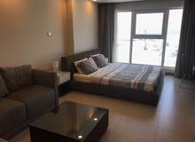 Studio apartment for rent in DAR Tower at Busaiteen with sea view - استديو للإيجار في البسيتين