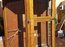 قفص خشب، حجم كبير، لجميع أنواع الطيور