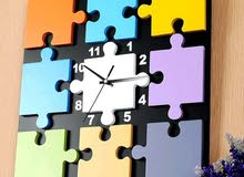 ساعة حائط خشب إسباني مقاس 40×40 تصميم مودرن أنيق