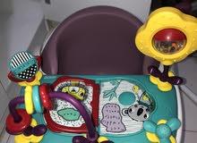 كرسي طعام للاطفال مع العاب بناتي