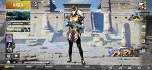 M416 Glacier,Golden suit-x Pharaoh and Blood Raven X-suit