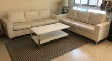 two leather sofa 3 seat with coffe table for urgent  sell