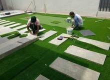 Artificial Grass Garden Flooring Design 45mm