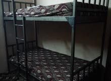 سريرين حديد ثقيل طابقين السرير