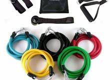 حبل تمارين مقاومة مع قطع للتثبيت