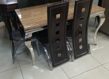 طاولة ستانلس بيج مع 6 كراسي